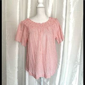 NWT   PEASANT SMOCKED TOP    MEDIUM